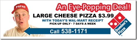 Billboard for Dominos Pizza in Alabama