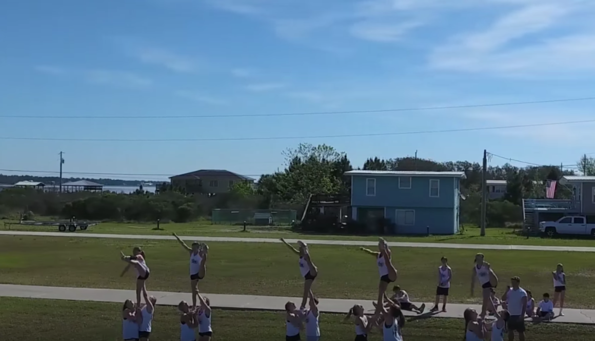 Cheerleader Camp, Sports Team Drone Videography Gulf Shores, Alabama